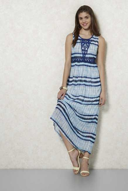 Fusion Beats Indigo Printed Dress