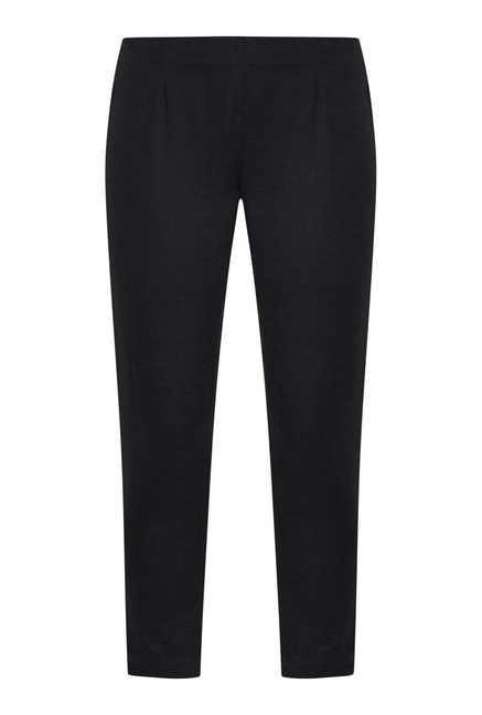 Fusion Beats Black Cotton Trousers