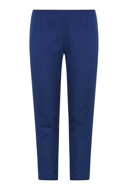 Fusion Beats Indigo Cotton Trousers