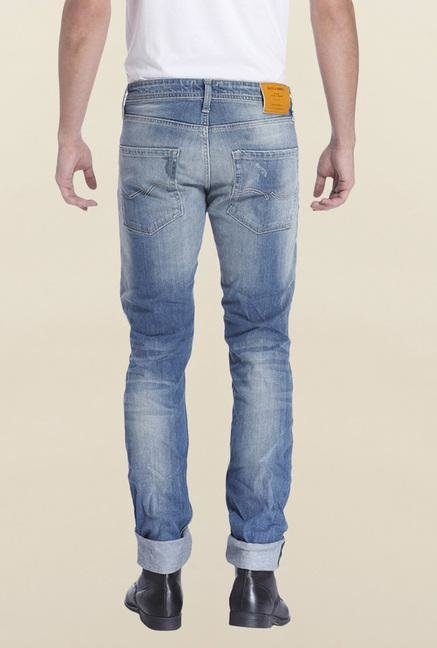 Jack & Jones Blue Glenn Ripped Jeans