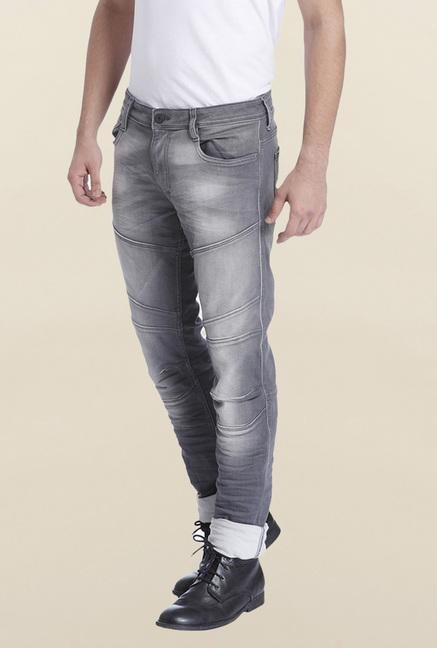 Jack & Jones Grey Tim Slim Fit Jeans