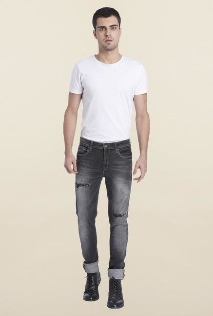 Jack & Jones Dark Grey Liam Slim Fit Jeans