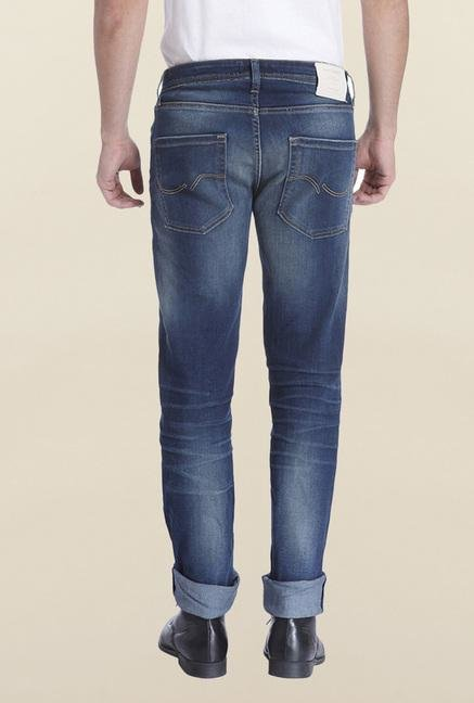 Jack & Jones Blue Denim Solid Tim Jeans