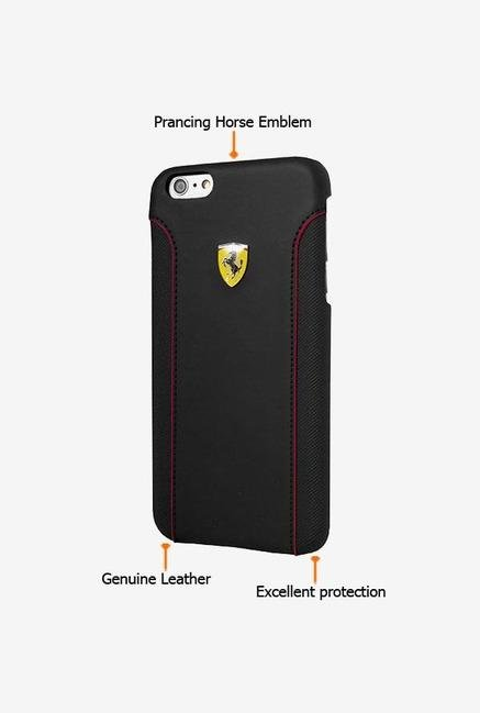 Ferrari FEDA2IHCP6LBL iPhone 6 PLUS Case Black