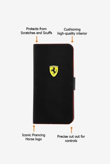 Ferrari FESCRUFLHPMBL iPhone 5C Case Black