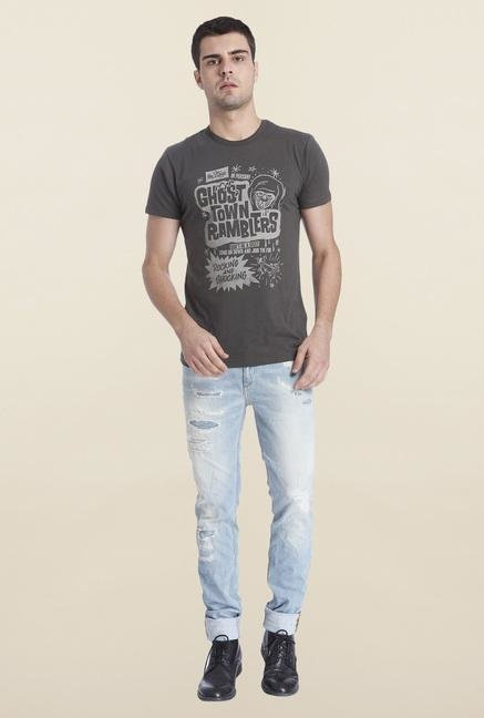Jack & Jones Raven Cotton Printed T Shirt