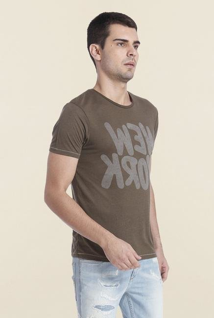 Jack & Jones Raven Textured Crew Neck T Shirt