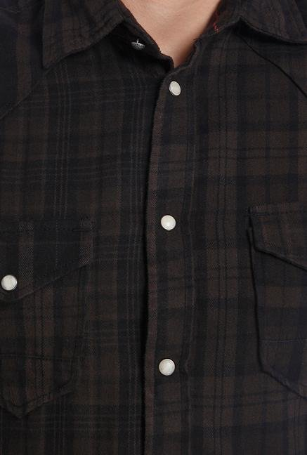 Jack & Jones Chocolate Chip Checks Shirt