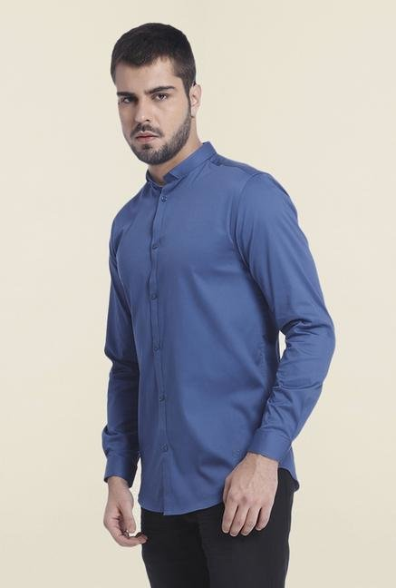 Jack & Jones True Navy Cotton Solid Shirt