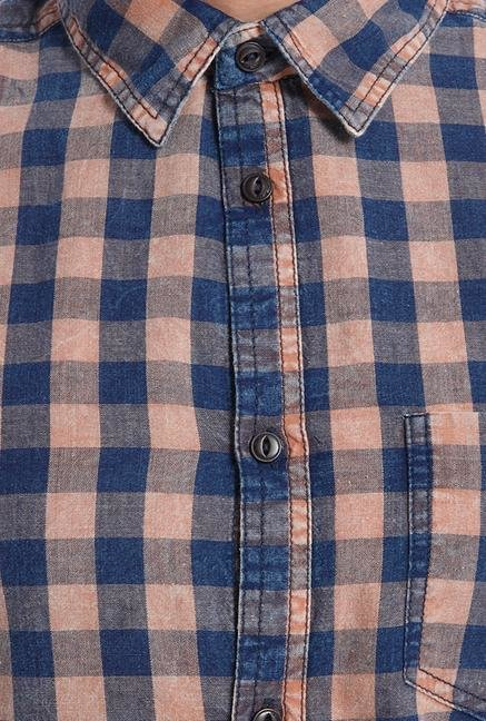 Jack & Jones Orange Mecca Checks Shirt