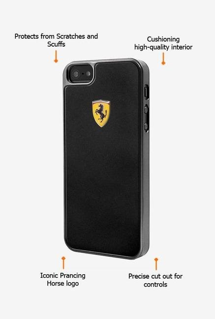 Ferrari FEMEHCP5BL iPhone 5 Case Black