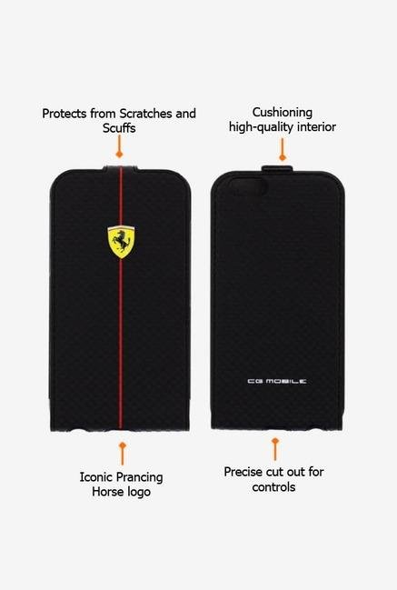 Ferrari FEFOCFLP6BL iPhone 6 Case Black