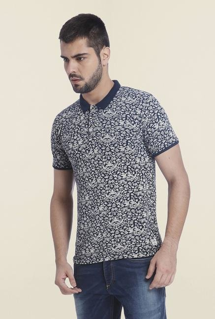 Jack & Jones Navy Polo T-Shirt