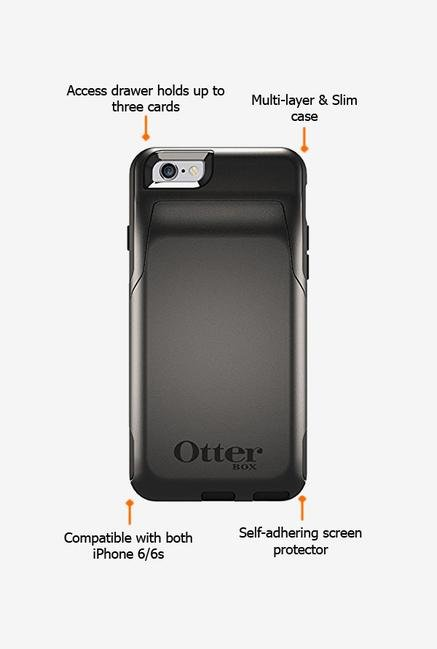 Otterbox Commuter Wallet 50222 iPhone 6 Back Case Black