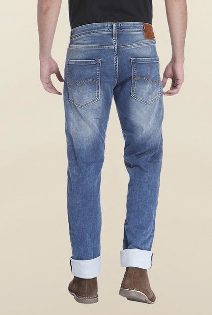 Jack & Jones Blue Ripped Mike Jeans