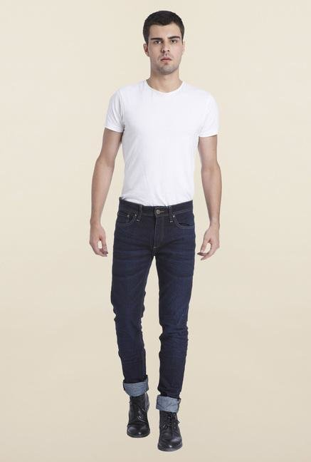 Jack & Jones Dark Blue Raw Denim Jeans