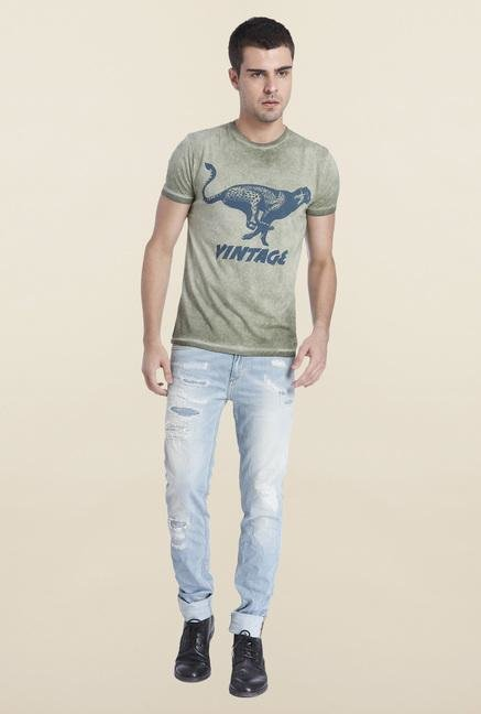 Jack & Jones Olivine Slim Fit Cotton T Shirt