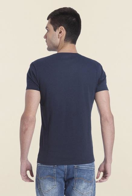 Jack & Jones Blue Casual Crew Neck T Shirt