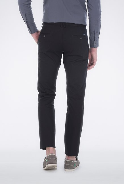 Basics Black Twill Weave Trouser