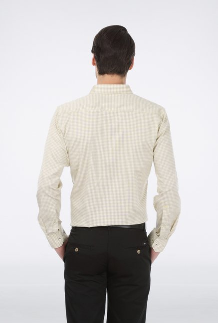 Basics Yellow Checked Shirt