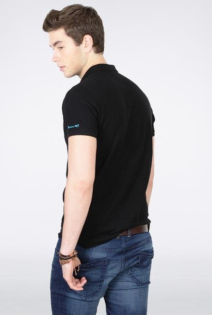 Basics Black Polo T Shirt
