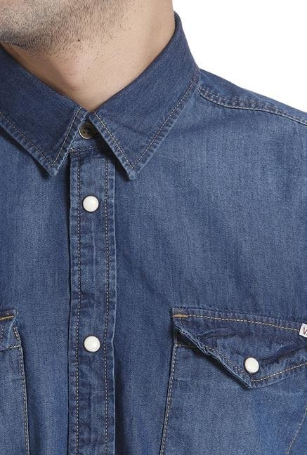 Jack & Jones Blue Cotton Shirt