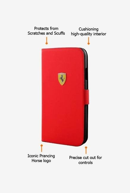 Ferrari FESCRUFLHS4RE Galaxy S4 Case Red