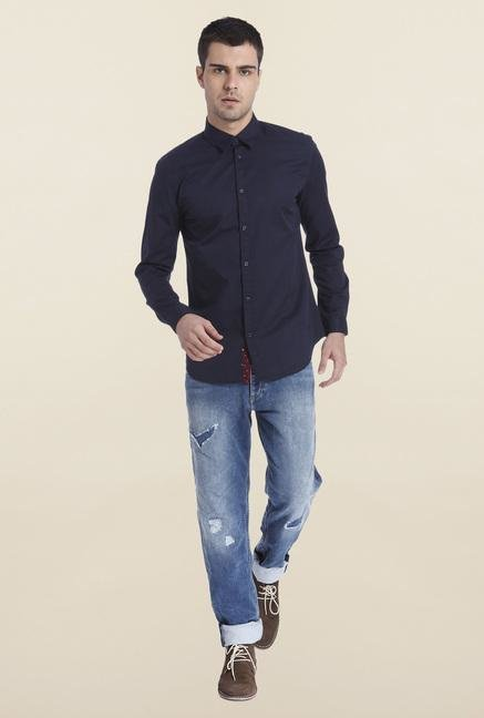 Jack & Jones Navy Cotton Shirt