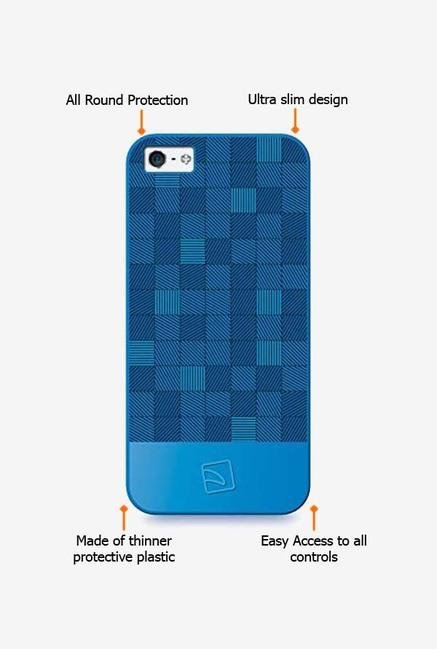 Tucano Quadretti IPH5QUZ iPhone 5 Back Case Azzuro
