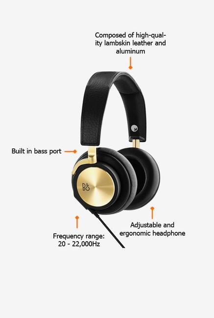 Bang & Olufsen BEOPLAY H6 Headphone Black & Gold