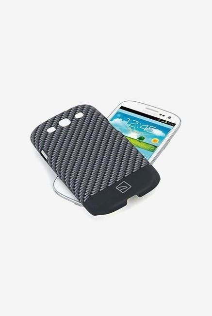 Tucano Carbon SG3CCSG Galaxy S3 Back Case Silver & Black