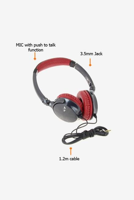 Minicooper MNHP813BL Over The Ear Headphone Black