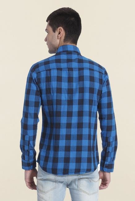 Jack & Jones Blue Slim Fit Checks Shirt