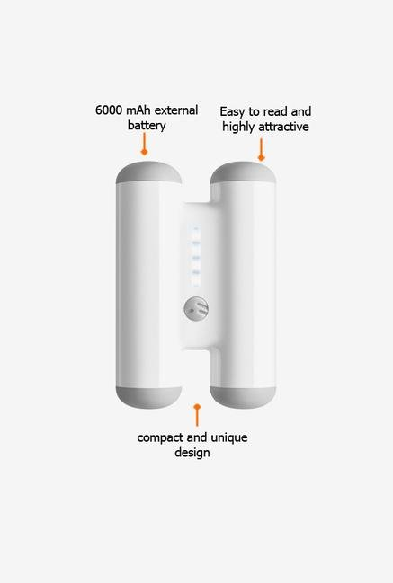Switcheasy SWPOWTANKW 6000mAh Power Bank White