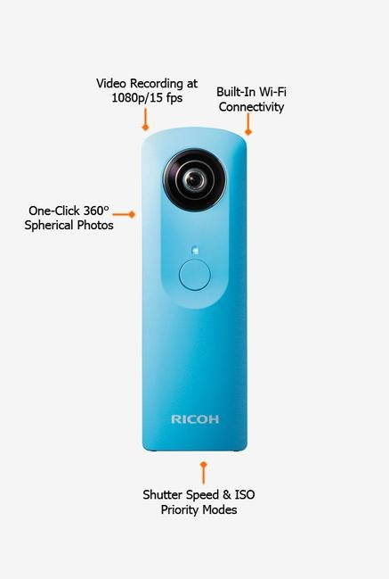 RICOH Theta M15 Point & Shoot Camera Blue