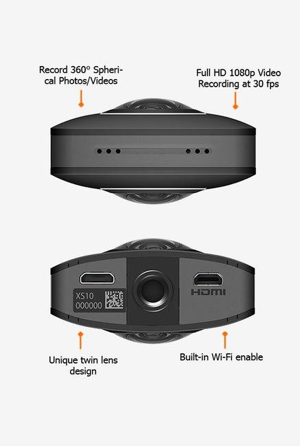 RICOH Theta S Point & Shoot Camera Black