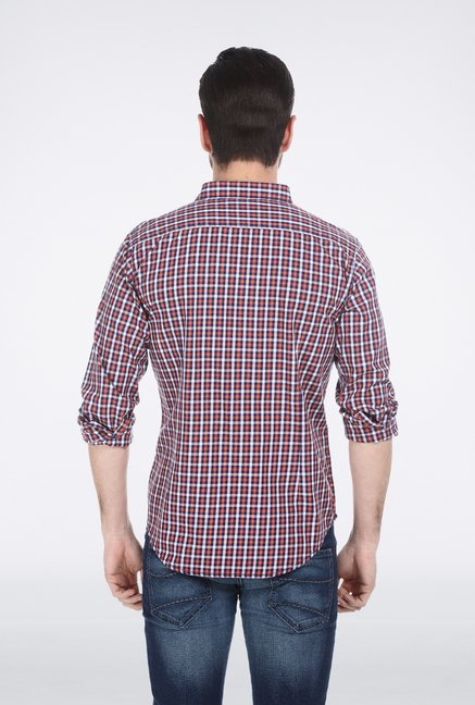 Basics Orange Shepherd Check Shirt