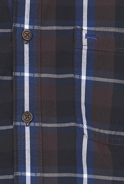 Basics Brown Plaid Shirt