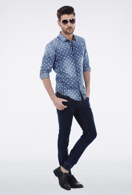 Basics Blue Denim Shirt