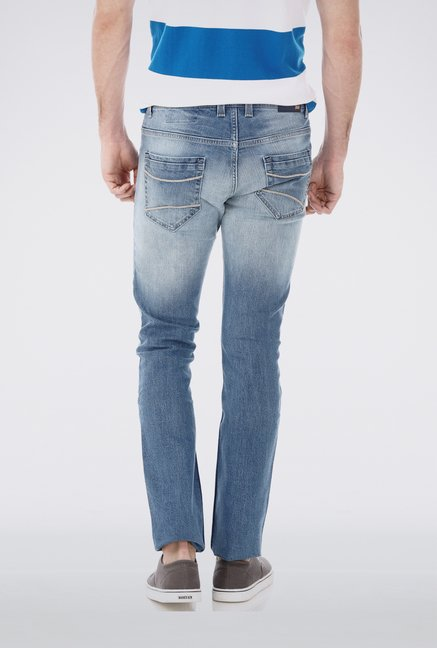Basics Blue Rugged Jeans