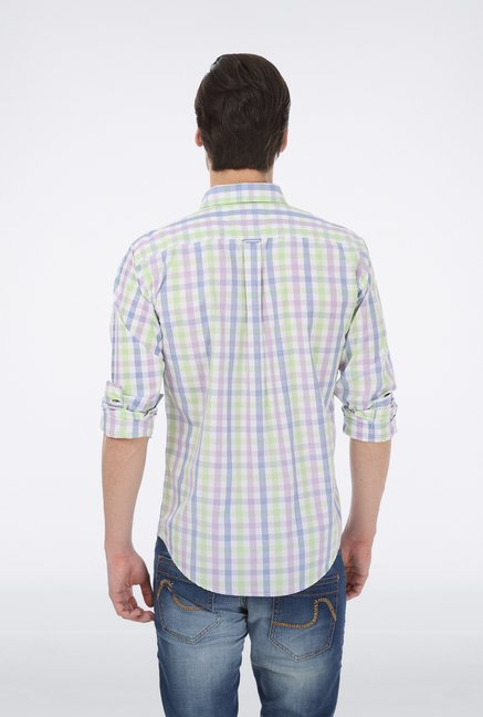 Basics Green Checked Shirt