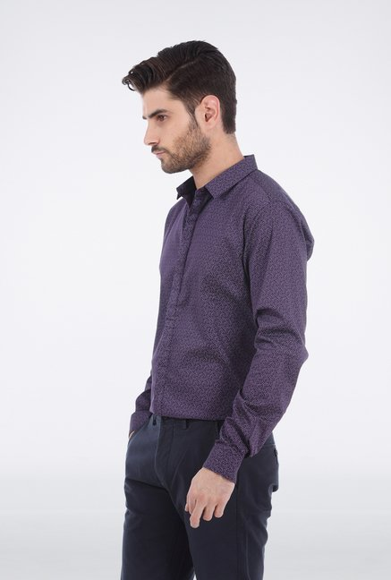 Basics Purple Satin Shirt