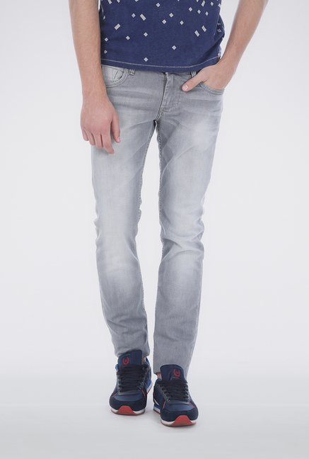 Basics Grey Low Rise Jeans