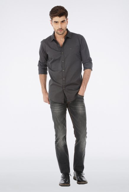 Basics Black Stone Washed Jeans