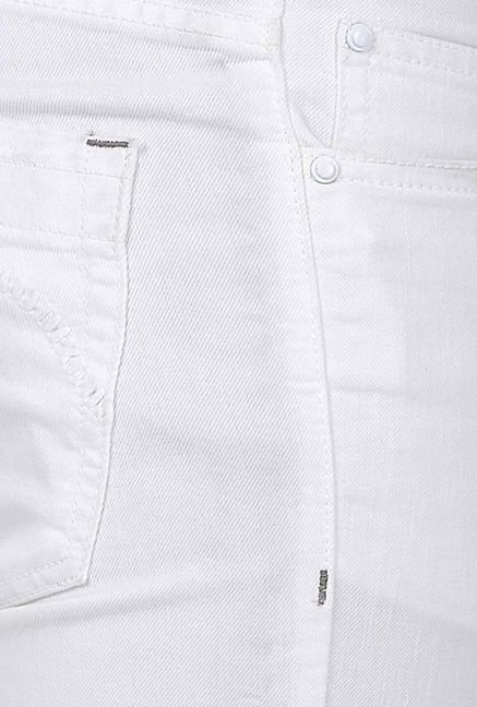 Basics White Low Rise Jeans