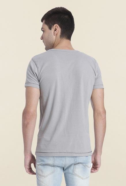 Jack & Jones Griffin Printed Cotton T Shirt