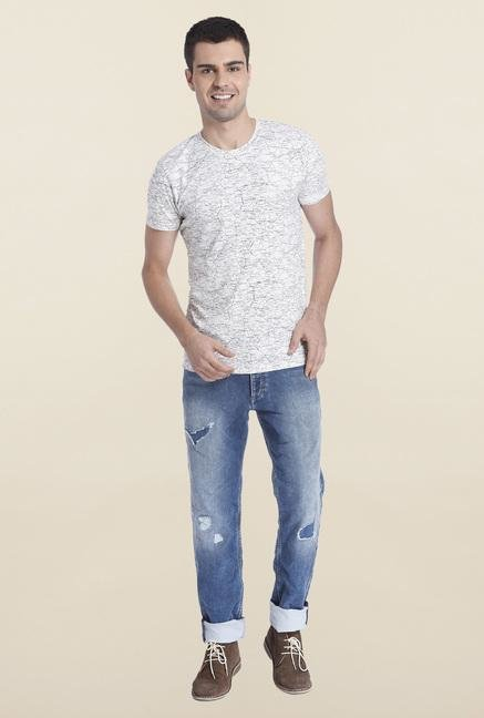 Jack & Jones White Casual Crew Neck T Shirt
