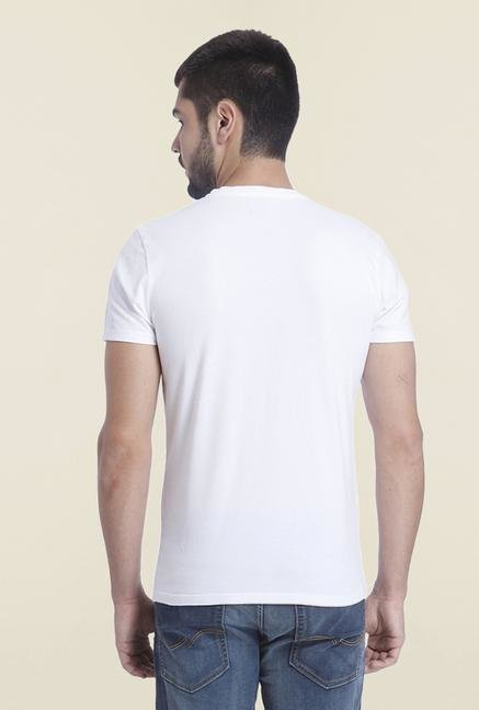 Jack & Jones White Casual Slim Fit T Shirt