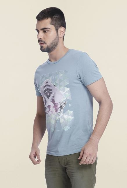 Jack & Jones Citadel Printed Cotton T Shirt