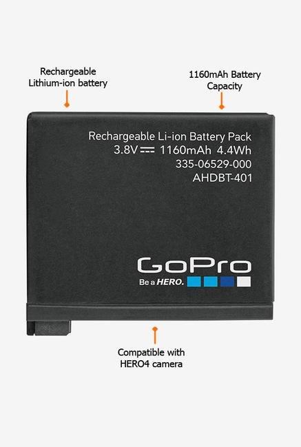 GoPro AHDBT401 1160mAh Rechargeable Battery Black